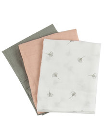 Popolini iobio Muslins Organic Cotton 3-Pack - Natural Colours