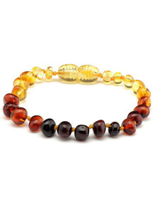 Amber Amber Baby Bracelet 14 cm - Rainbow