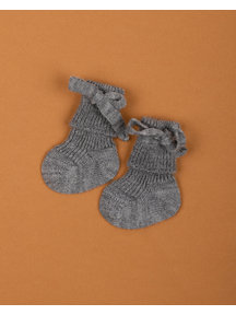 Hirsch Natur Newborn Socks Wool - Grey