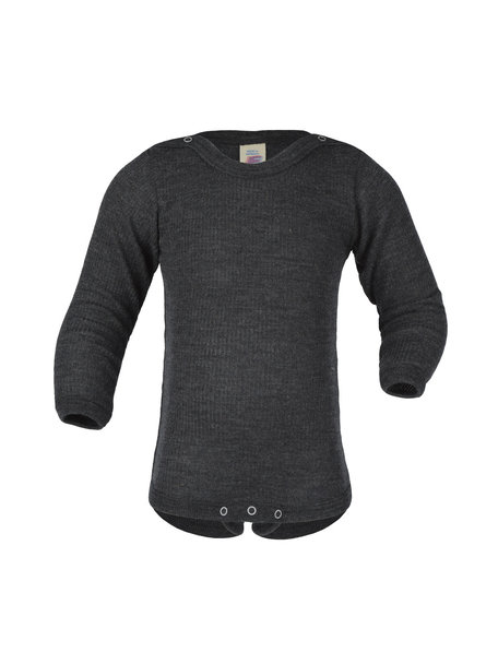 Engel Natur Body Long Sleeves Wool/Silk - anthracite