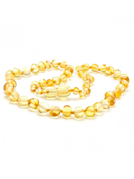 Amber Amber Baby Necklace  32 cm - Lemon
