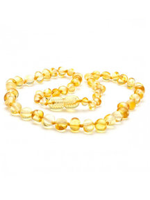 Amber Amber Kids Necklace 38 cm - Lemon