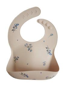 Mushie Silicone Baby Bib - Lilac flowers