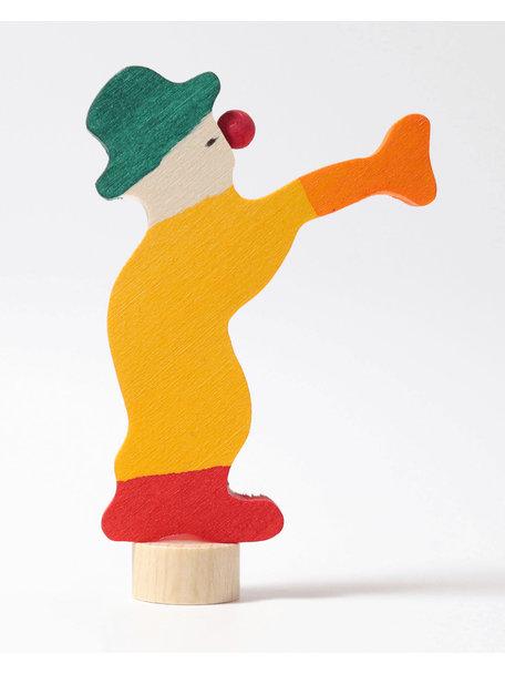 Grimm's Decorative Figure toadstool - clown with trumpet