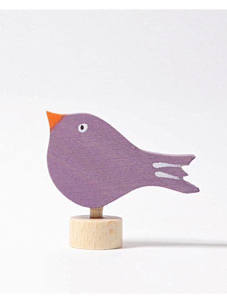 Grimm's Decorative Figure toadstool - sitting bird