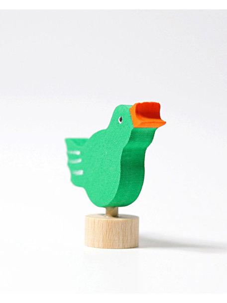 Grimm's Decorative Figure toadstool - singing bird