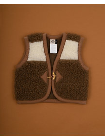 Alwero Alpen Vest Wool - natural/brown