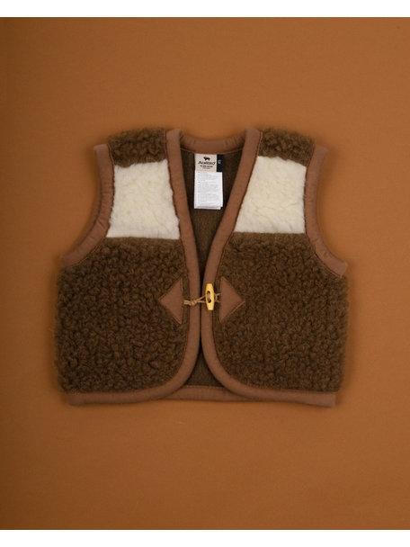 Alwero Alpen Vest Wool - natural/brown