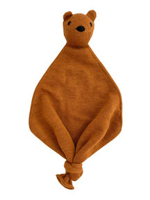 Hvid Teddy Tokki cuddle cloth - rust
