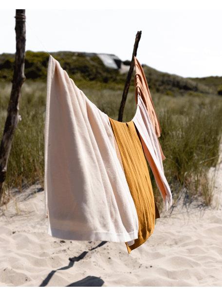 Hvid Cotton summerblanket Deedee - clay