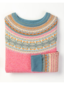 Eribé Fair-isle sweater - nougat