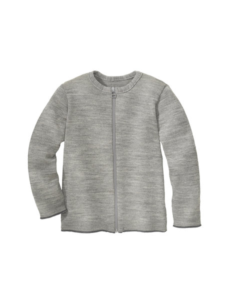 Disana Merino wool cardigan - gray / anthracite