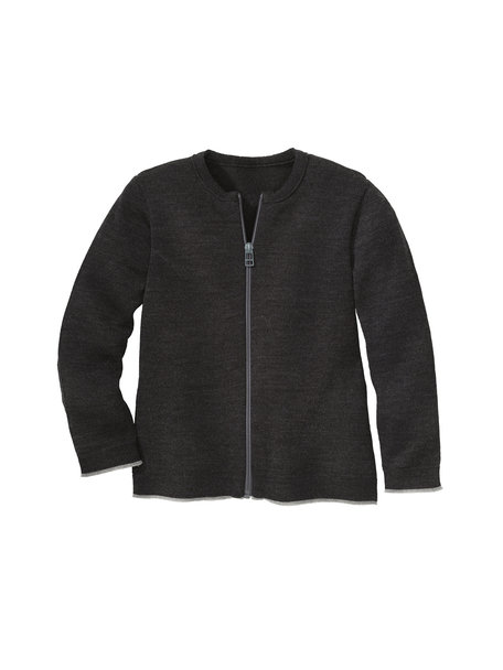 Disana Merino wool cardigan - anthracite /gray