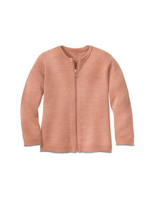 Disana Merino wool cardigan - rose/gray