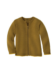 Disana Merino wool cardigan - gold/curry
