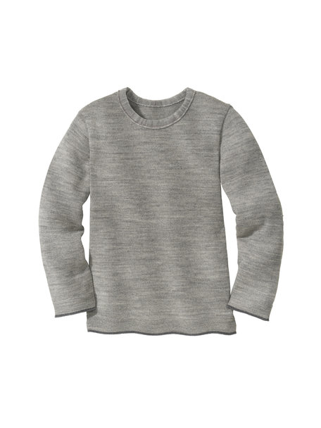 Disana Merino wool children's jumper -gray/anthracite