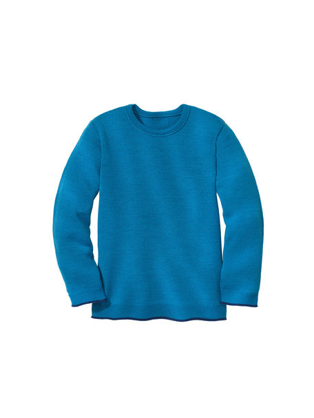 Disana Merino wool children's jumper - blue/dark blue