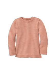 Disana Merino wool children's jumper - rose/grey