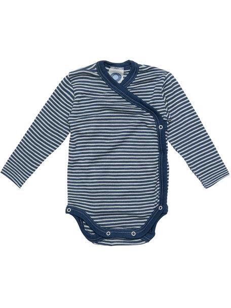 Cosilana Baby Wrap Body Striped Wool/Silk - Blue