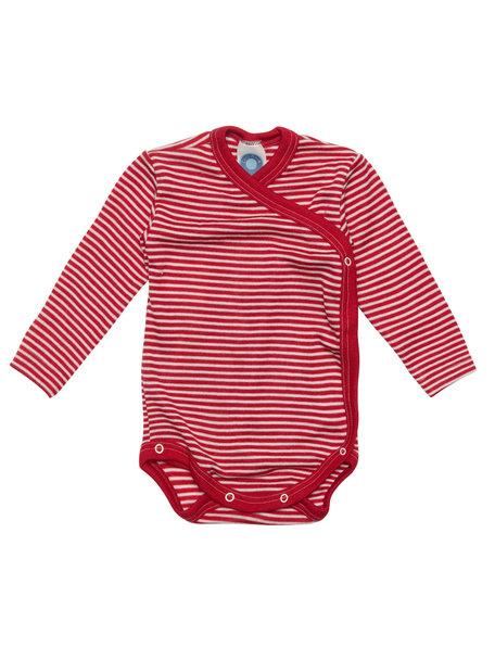 Cosilana Baby Wrap Body Striped Wool/Silk - Red