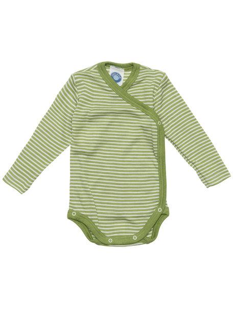 Cosilana Baby Wrap Body Striped Wool/Silk - Green