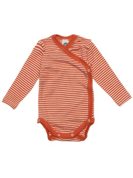 Cosilana Baby Wrap Body Striped Wool/Silk - Orange