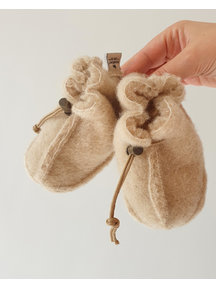 Alwero Wool plush booties - beige