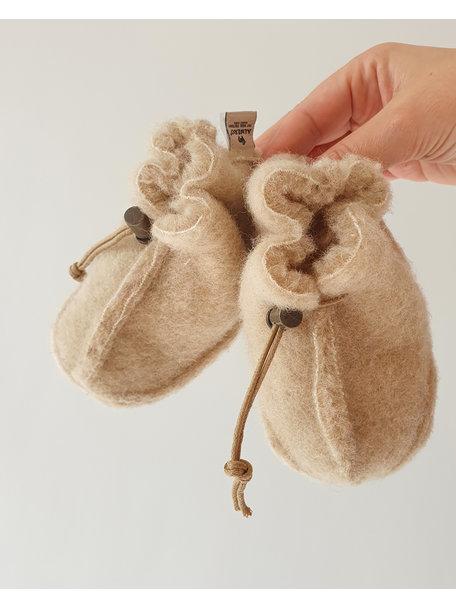 Alwero Wool plush booties - beige