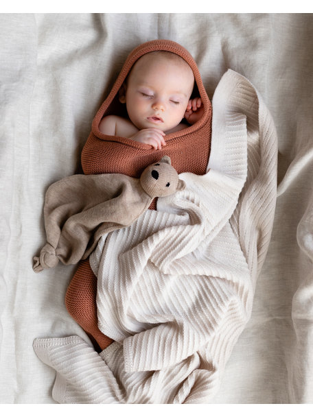 Hvid Baby Cocoon Merino Wool - Brick