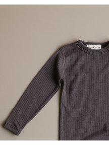Unaduna Shirt longleeves - deep taupe