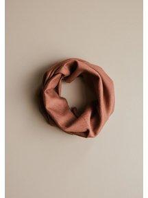 Unaduna Fine Rib Loop Scarf Wool/Silk - sienna clay