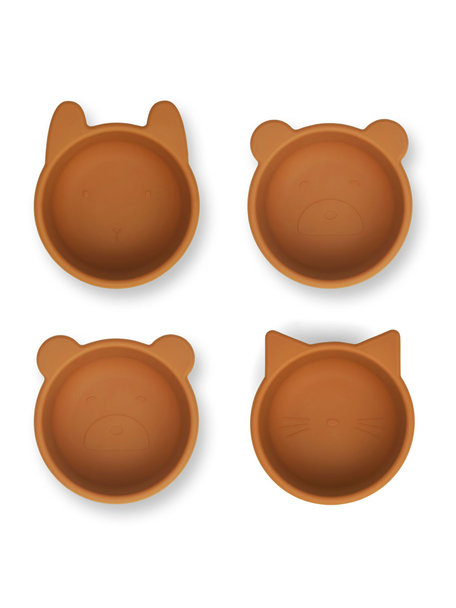Liewood Silicone bowls mustard - 4 pack