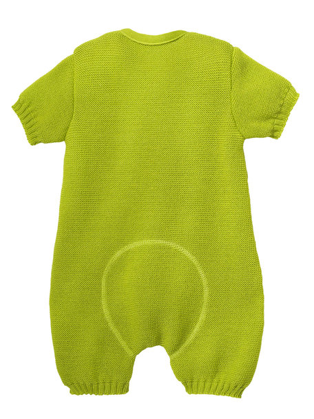 Disana Summer jumpsuit from wool - apple green