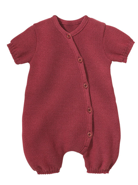 Disana Summer jumpsuit from wool - dry rose