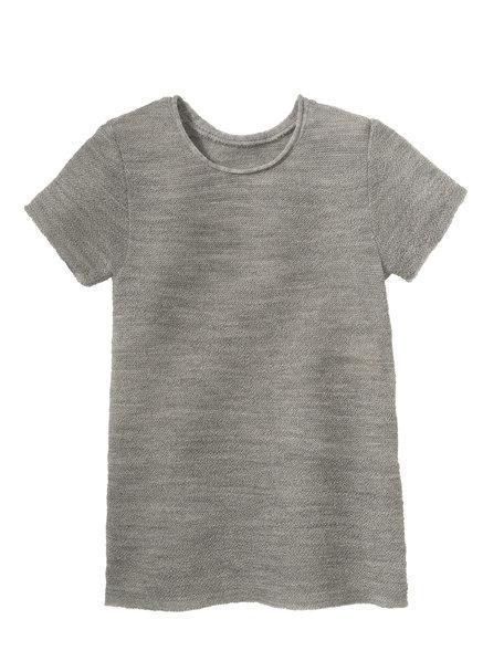 Disana Summer short sleeve shirt left knitted - grey