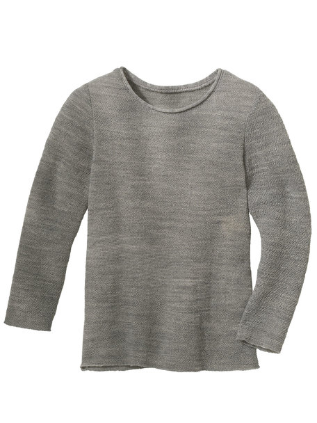 Disana Summer sweater left knitted - grey
