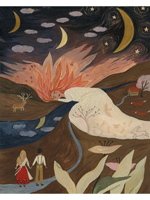 Boeken & Kaarten Tijana draws - foldable card Sleeping Sun