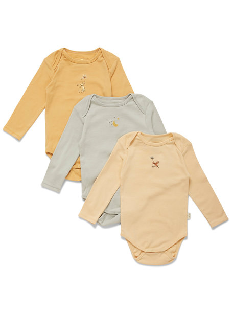 Konges Sløjd Set of 3 bodies with print - apricot