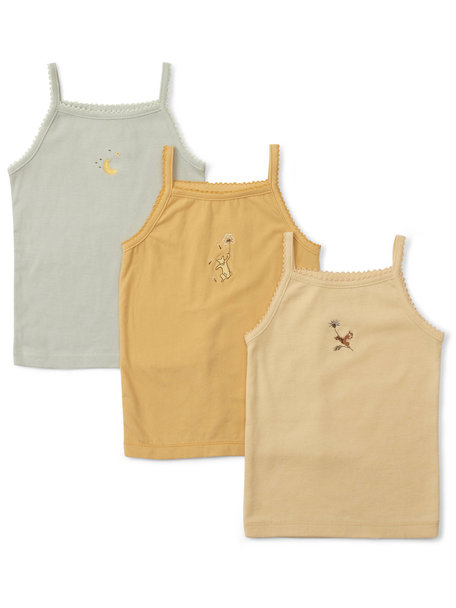 Konges Sløjd Set of 3 summer tops with print  - apricot