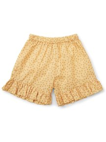 Konges Sløjd Pilou shorts with frills - buttercup yellow