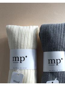 MP Denmark Wool Rib Tights - Grey