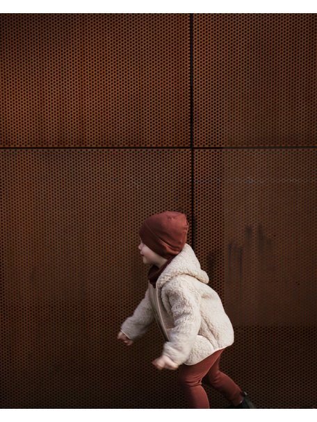 Alwero Jacket teddy plush - brown