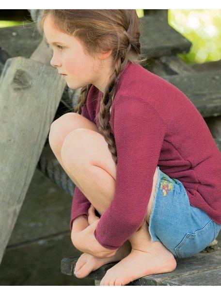 Disana Summer sweater left knitted - dry rose