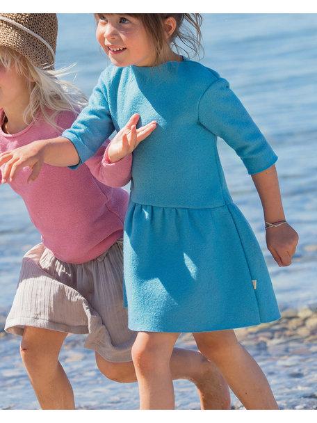 Disana Summer short sleeve shirt left knitted - caribic blue
