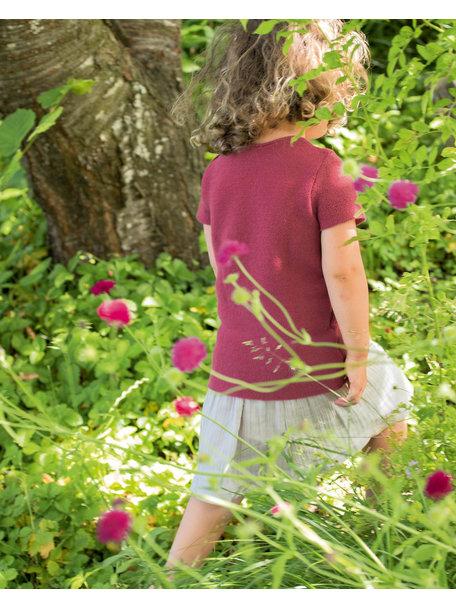 Disana Summer short sleeve shirt left knitted - dry rose