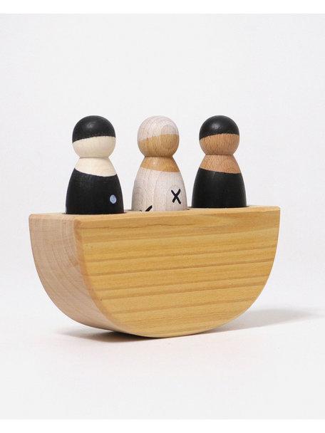 Grimm's Three in a Boat - Monochrome