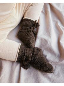 Hirsch Natur Newborn Socks Wool - Brown