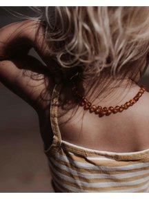 Amber Amber Kids Necklace 38 cm - Cognac Raw