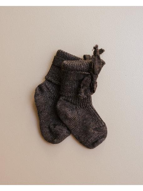 Hirsch Natur Newborn Socks Wool - Brown (Ziloen exclusive)