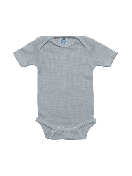 Cosilana Short Sleeved Baby Body Wool/Silk/Cotton - Grey
